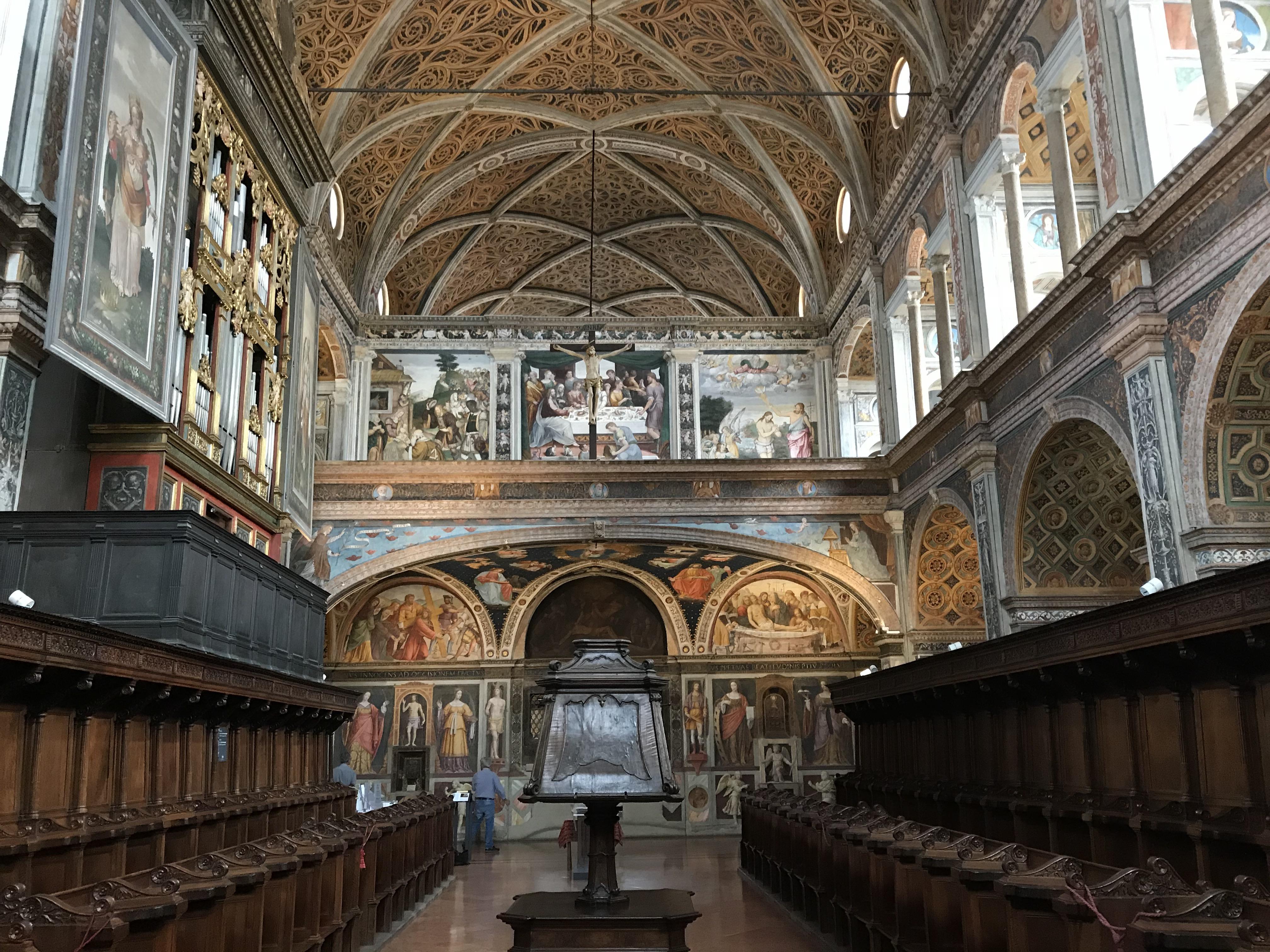 Hall of the Nuns, San Maurizio al Monastero Maggiore, Milan, Italy