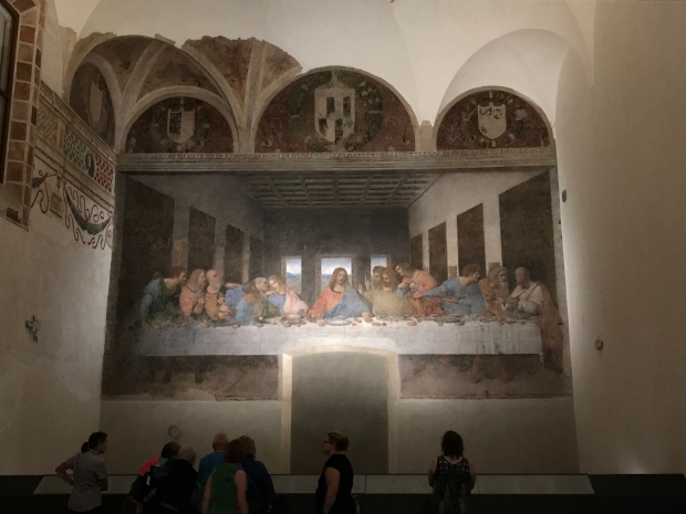 The Last Supper painting by Leonard da Vinci, Milan, Italy