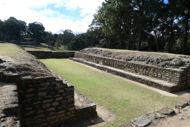 Ball court, Iximche, Guatemala