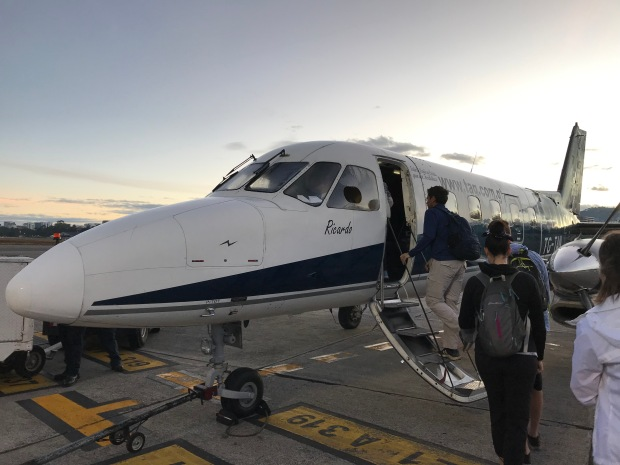 Guatemala plane to Tikal