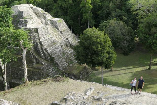Acropolis North ruins, Yaxha, Guatemala
