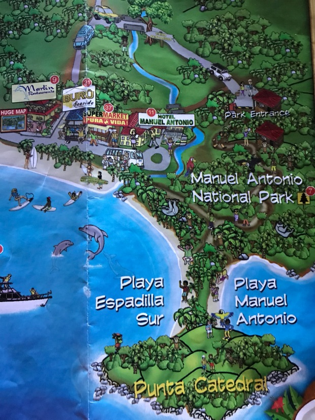 Costa Rica Manuel Antonio Map