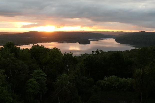 Lake Yaxha sunset, Yaxha, Guatemala