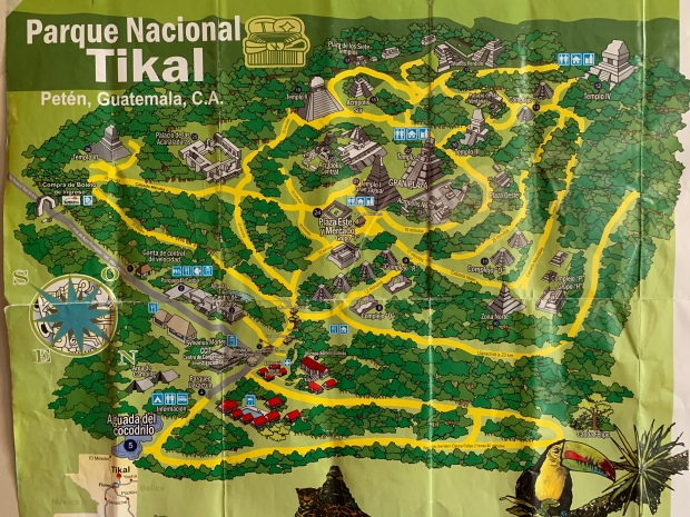 Map of Tikal, Guatemala